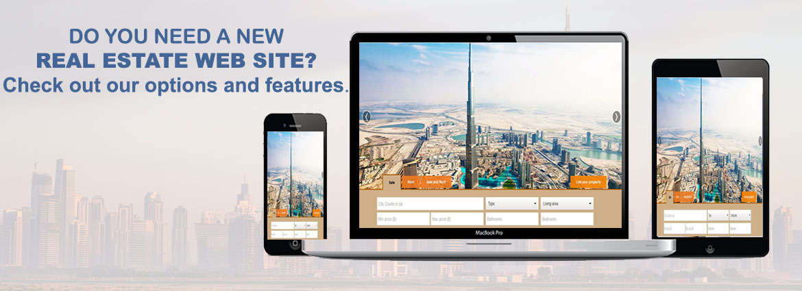 designing real estate website